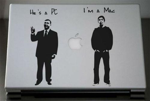 Aufkleber Ich bin ein Mac