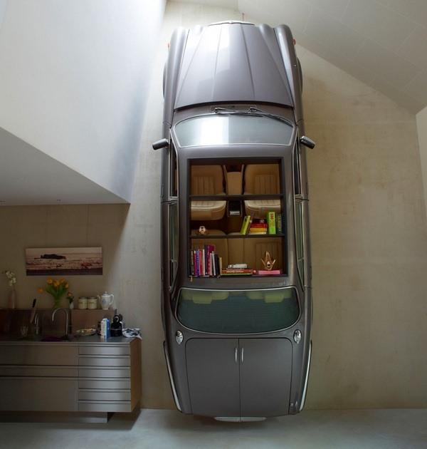 Auto als Schrank