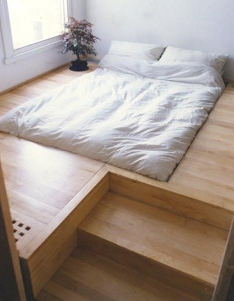 Bett im Fussboden