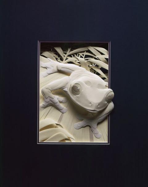 Bilder von Tieren aus Papier geschnitten 03