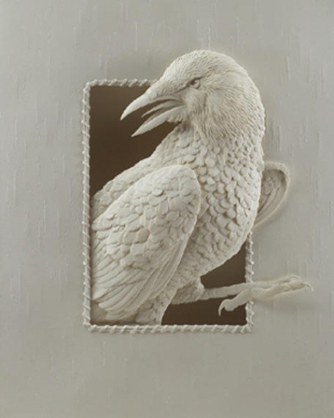 Bilder von Tieren aus Papier geschnitten 04