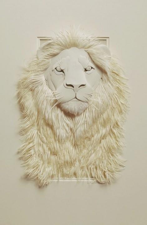 Bilder von Tieren aus Papier geschnitten 09