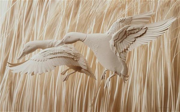 Bilder von Tieren aus Papier geschnitten 10