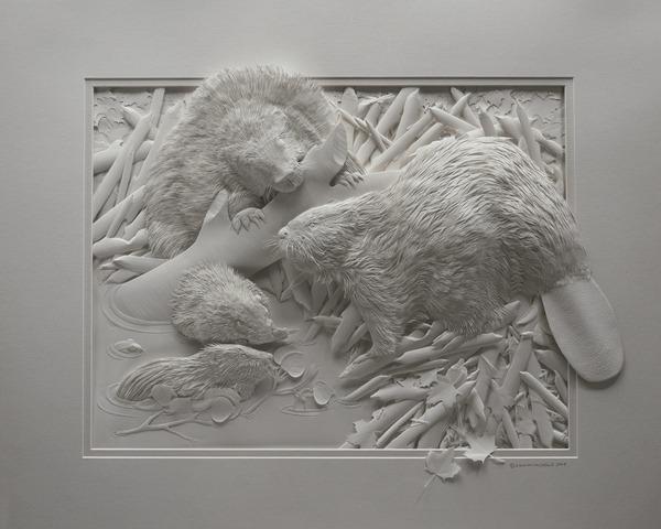 Bilder von Tieren aus Papier geschnitten 11