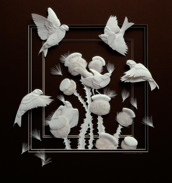 Bilder von Tieren aus Papier geschnitten 12