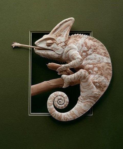 Bilder von Tieren aus Papier geschnitten 13