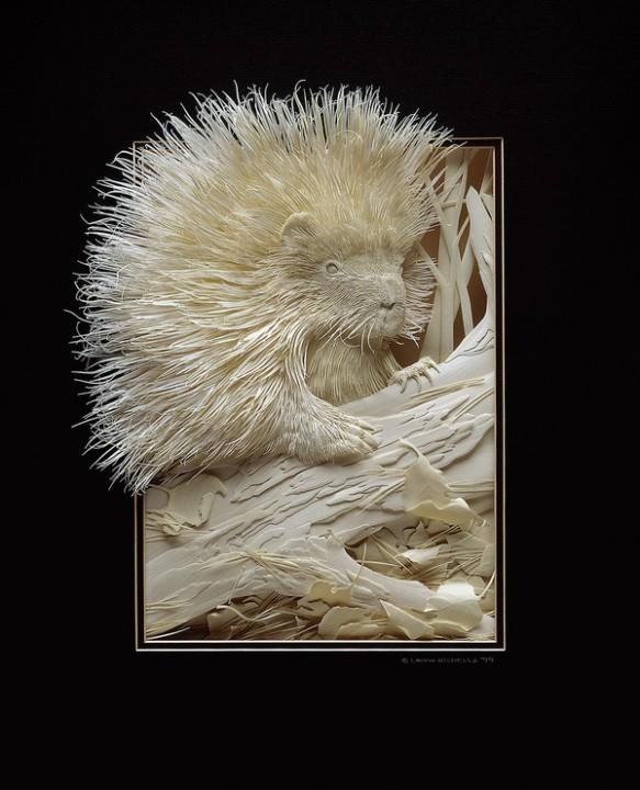 Bilder von Tieren aus Papier geschnitten 14