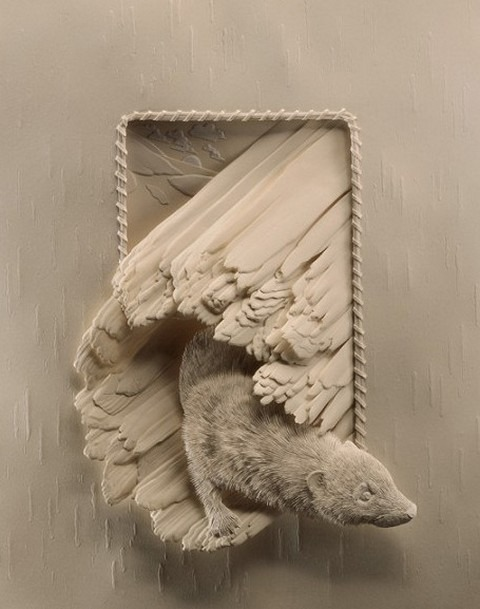 Bilder von Tieren aus Papier geschnitten 18