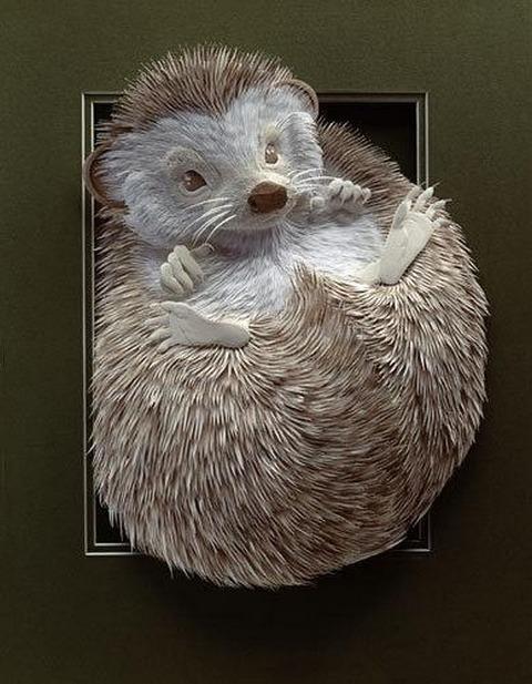 Bilder von Tieren aus Papier geschnitten 19