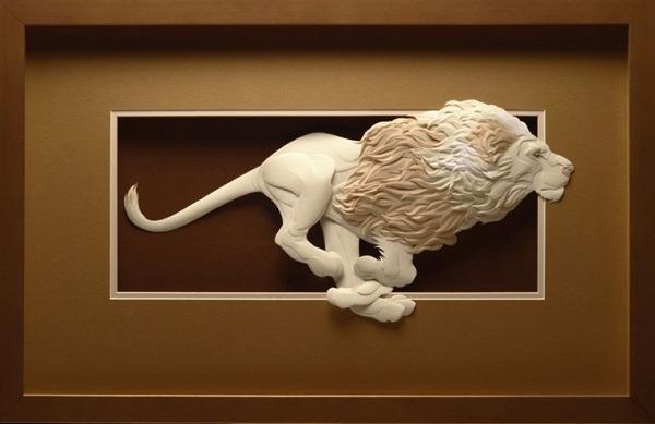 Bilder von Tieren aus Papier geschnitten 21