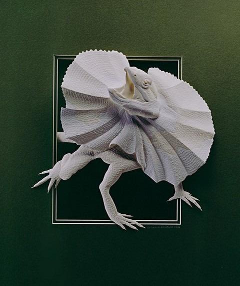 Bilder von Tieren aus Papier geschnitten 22