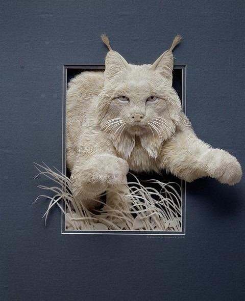Bilder von Tieren aus Papier geschnitten 23