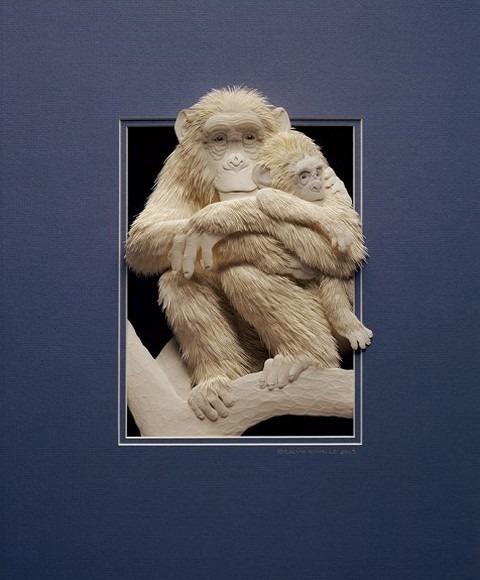 Bilder von Tieren aus Papier geschnitten 24