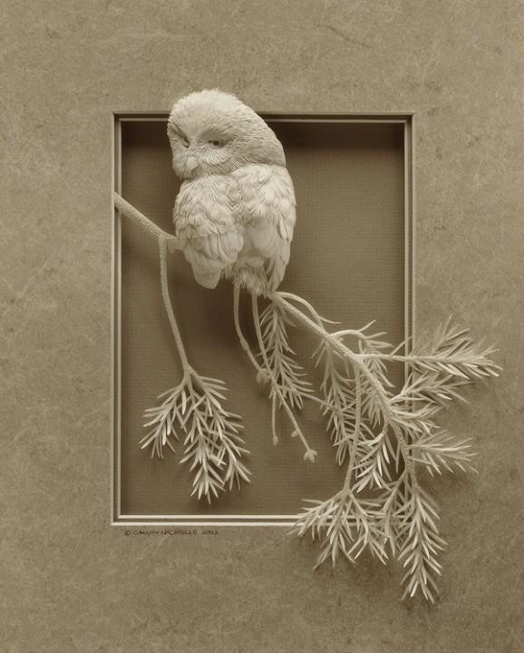 Bilder von Tieren aus Papier geschnitten 25