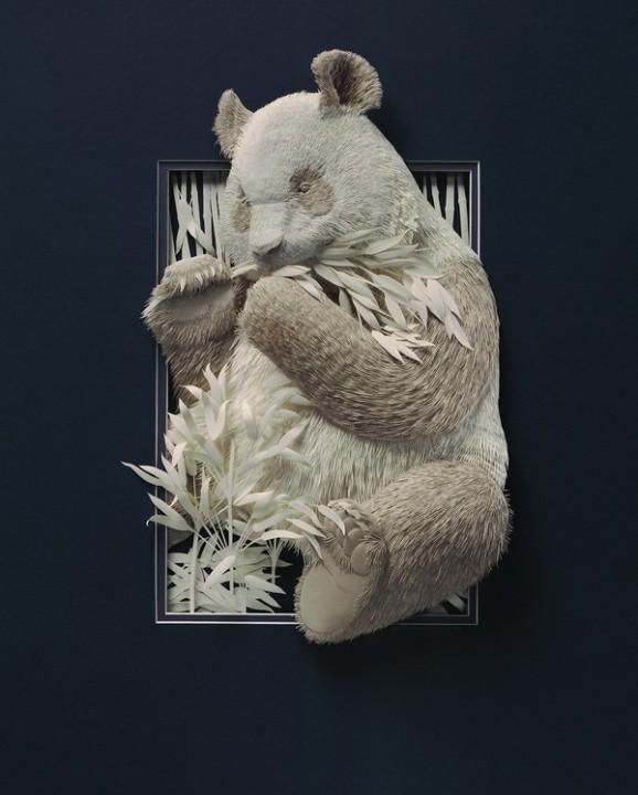 Bilder von Tieren aus Papier geschnitten 26