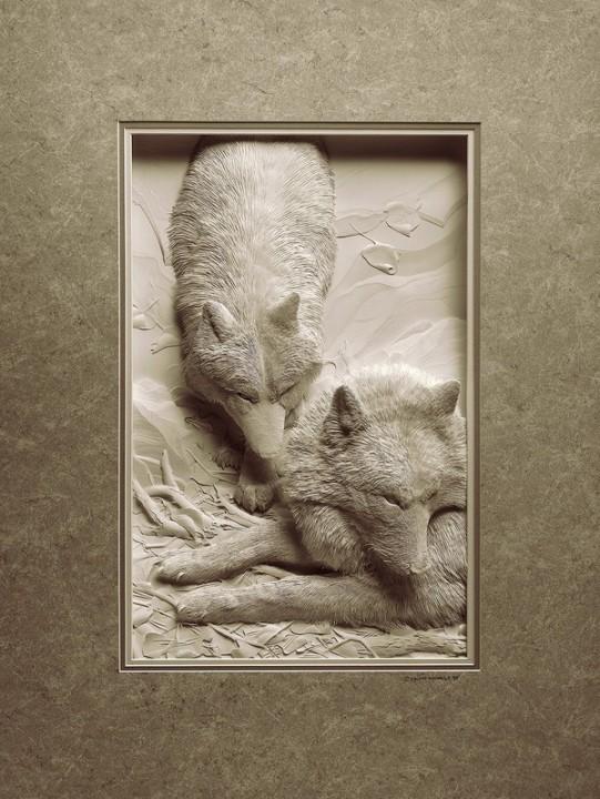 Bilder von Tieren aus Papier geschnitten 27