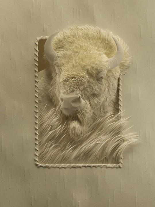 Bilder von Tieren aus Papier geschnitten 28