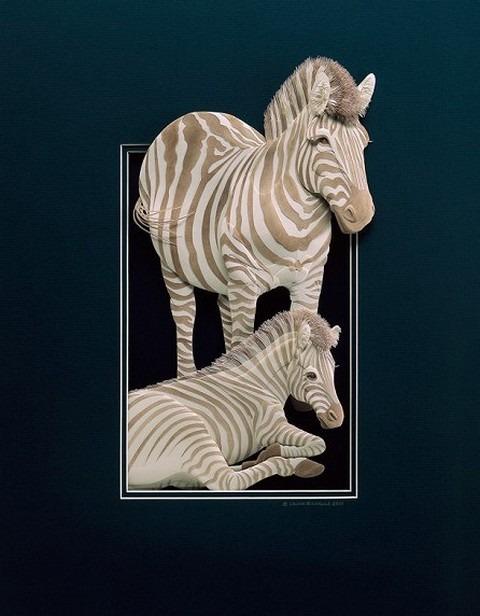 Bilder von Tieren aus Papier geschnitten 29