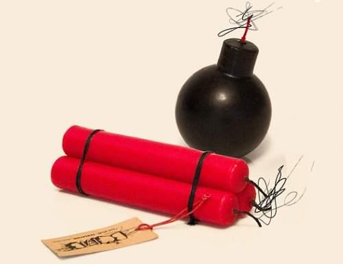 Bombe und Dynamit