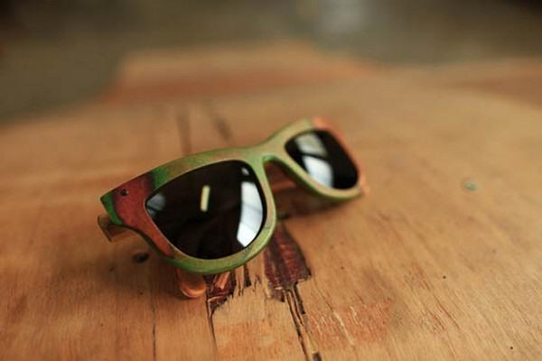 Brillen aus alten Skateboards