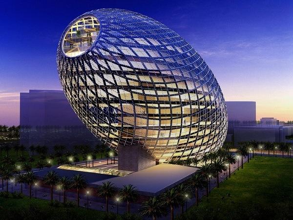 Cybertecture Egg Projekt fuer Mumbai 1