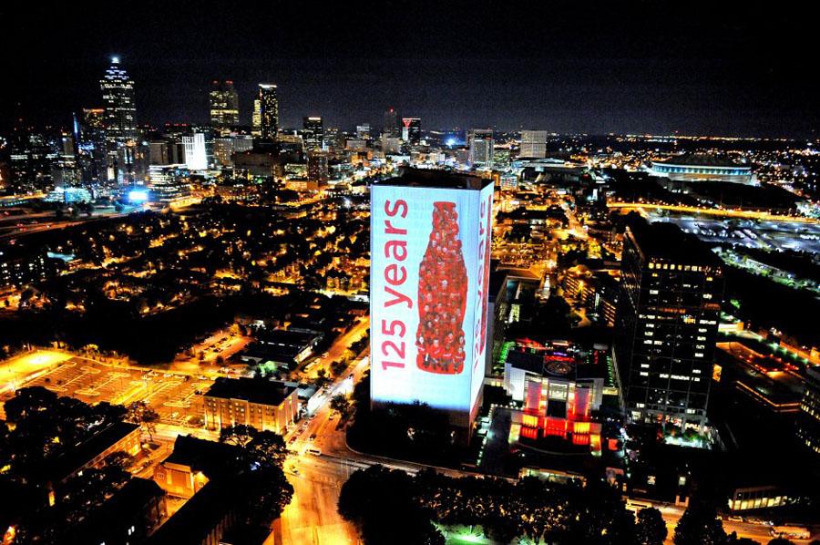 Die groesste Reklame Coca-Cola