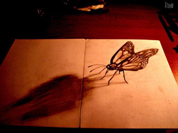 Flache Bleistiftzeichnungen in 3D Fredo 05