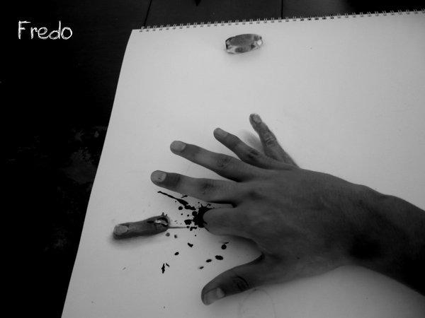 Flache Bleistiftzeichnungen in 3D Fredo 15