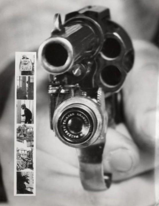 Fotorevolver, macht ein Foto