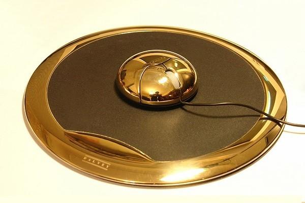 Gold-Maus, sie ist aus echtem Gold gemacht.