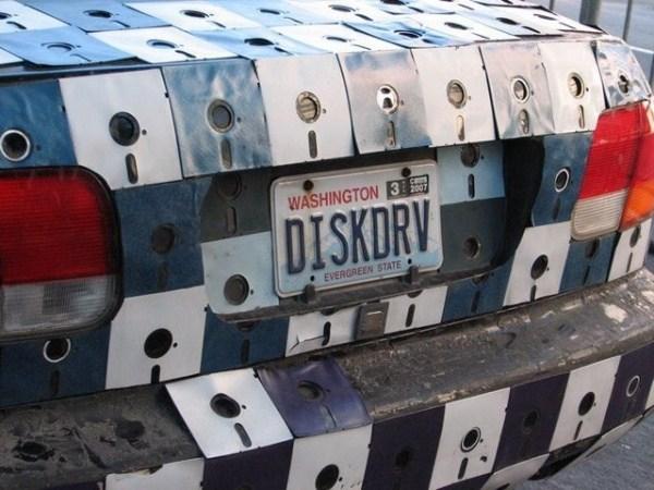 Karosserie aus Disketten 1