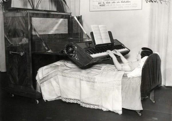Klavier fuer Bettlaegerige