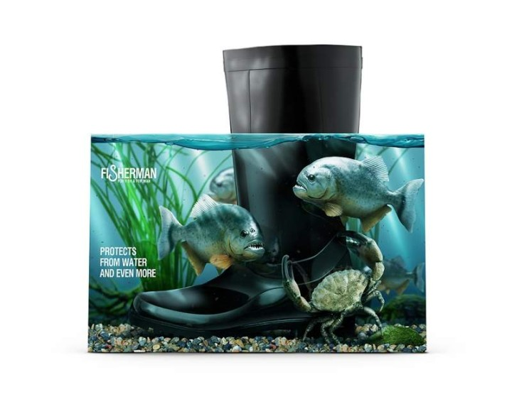 Kreative Verpackungen fuer Gummistiefel von Fisherman 01