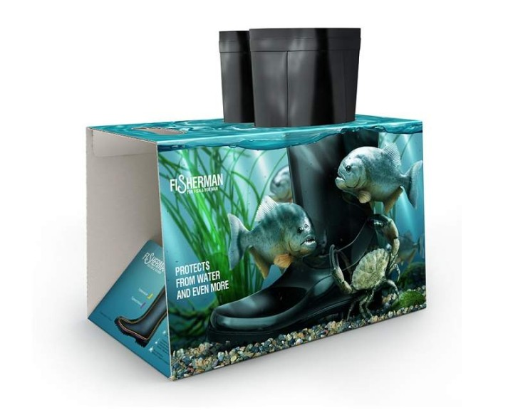 Kreative Verpackungen fuer Gummistiefel von Fisherman 04