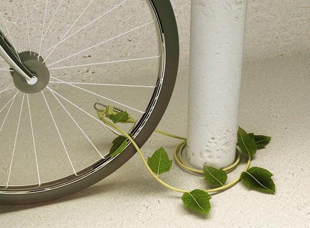 Lebendige Kette fuer das Fahrrad