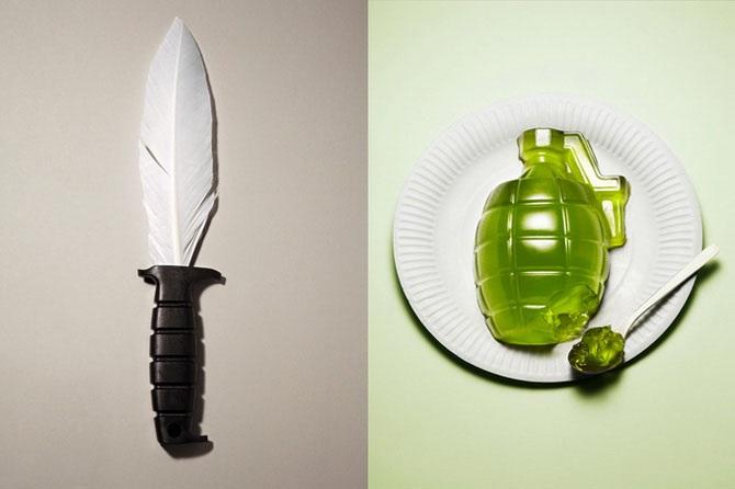Lebensmittel in Form von Waffen 01