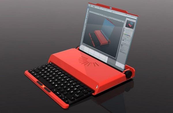Notebook auf Schreibmaschine Valentine basiert