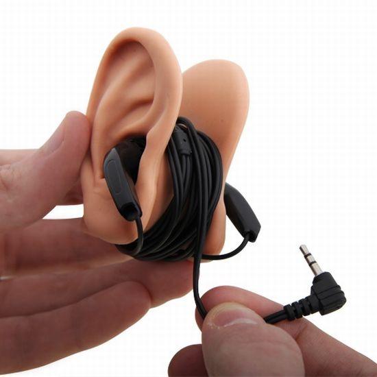 Ohren fuer die Aufbewahrung von Kopfhoerern