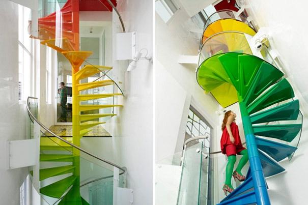 Das aussergewoehnliche design der treppe for Funky house designs