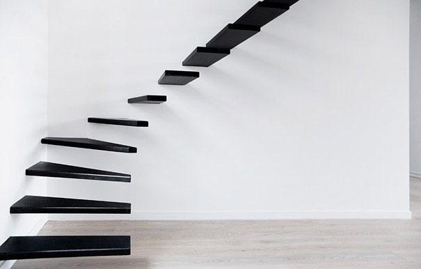 das aussergewoehnliche design der treppe. Black Bedroom Furniture Sets. Home Design Ideas