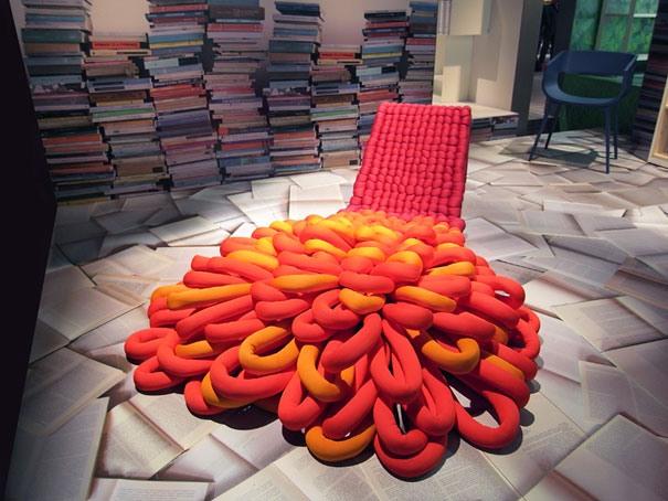 Stuhl mit Teppich