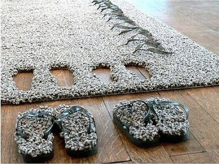 Teppich und Pantoffeln