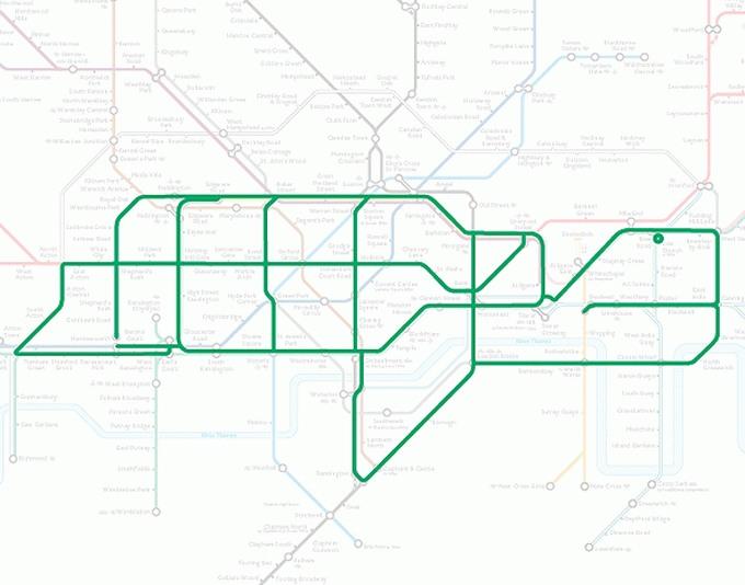 Tiere auf einer U-Bahn-Karte 15
