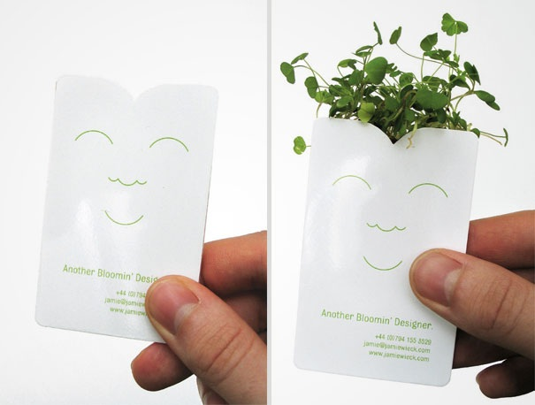 Visitenkarte als Blumentopf  1