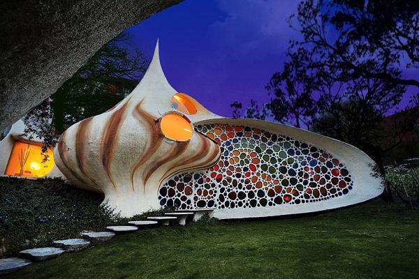 Wohnhaus Muschel in Mexiko