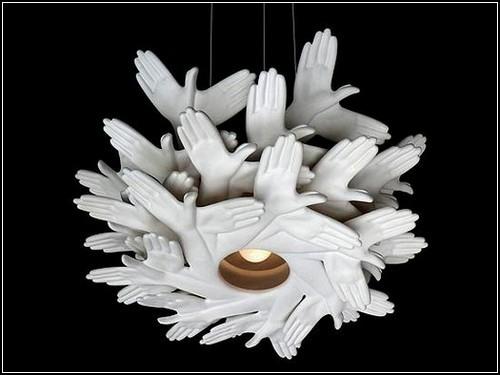 hands Kreative Beleuchtung im Haus 16