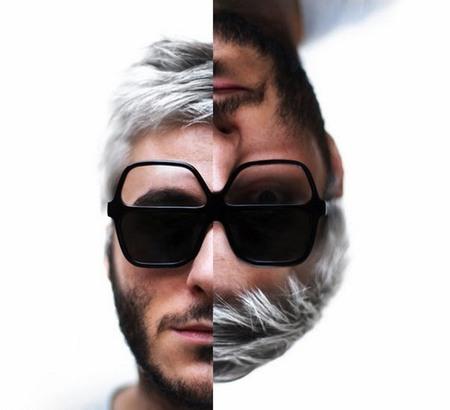 zweiseitige Brille