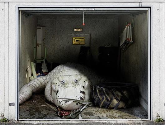 3D-Aufkleber fuer Garage 04