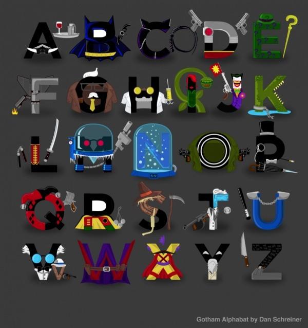 Alphabet fuer Superhelden