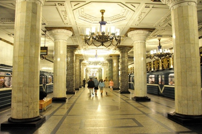 Avtovo Station in St. Petersburg